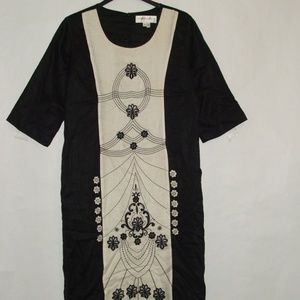 Donna Avinci Women Embellished Dress EUC